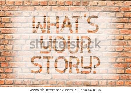 ne · öykü · soru · bağbozumu · ahşap - stok fotoğraf © zerbor