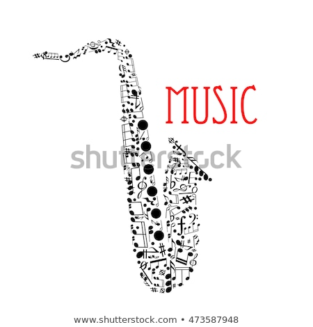 Musical notes in the form of treble clef Stock photo © m_pavlov