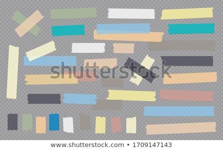 白 孤立した クローズアップ テープ 黄色 ストックフォト © cherezoff