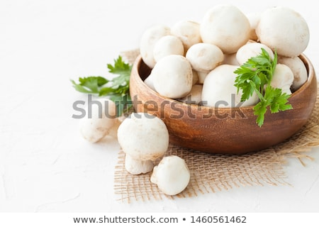 gomba · champignon · zöld · petrezselyem · levelek · fából · készült - stock fotó © oleksandro