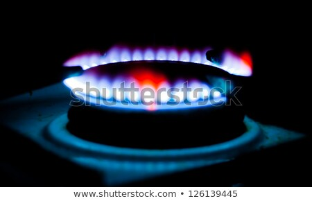 Ignite the gas hotplate Stock photo © simply