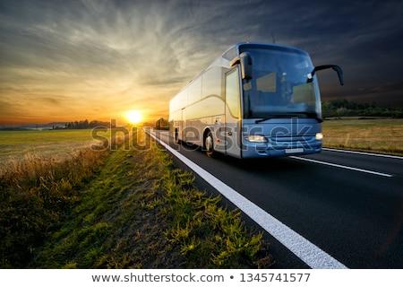 Bus compartiment grand fenêtre sûr coach Photo stock © olykaynen