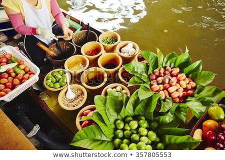 Keuken boot Bangkok markt Thailand Stockfoto © Mikko