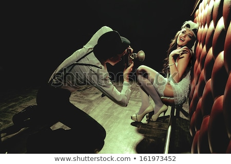 Bayan gülünç örnek kadın seks Retro Stok fotoğraf © adrenalina