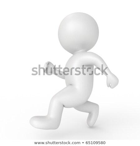 Leader simbolico persone illustrazione 3d piedi Foto d'archivio © grechka333