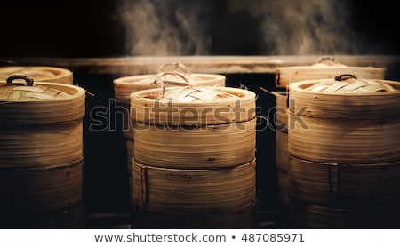 stack of bamboo steamer Stock photo © art9858