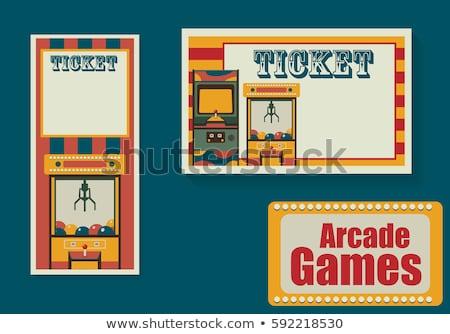 Vintage videojuegos palanca de mando parque de atracciones atención selectiva ordenador Foto stock © stevanovicigor