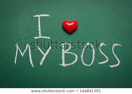 Jó állás szöveg zöld tábla csoport Stock fotó © fuzzbones0