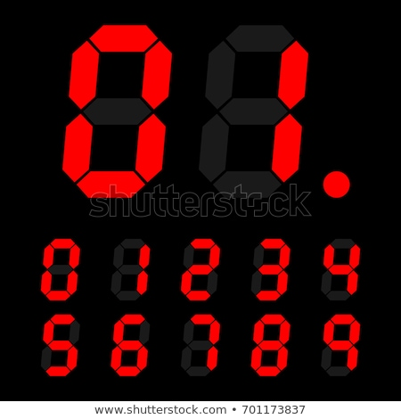 Set of red digital number signs made up from seven segments Stock photo © Evgeny89