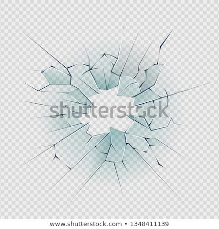 реалистичный битое стекло прозрачный квадратный иллюстрация здании Сток-фото © Evgeny89