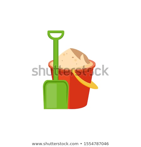 A green pail with sands Stock photo © bluering