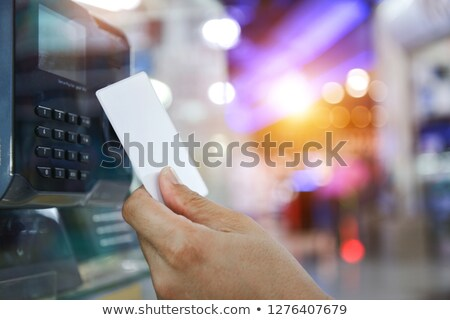 指紋 · バイナリ · マイクロチップ · 3次元の図 · 統合された · 印刷 - ストックフォト © idesign
