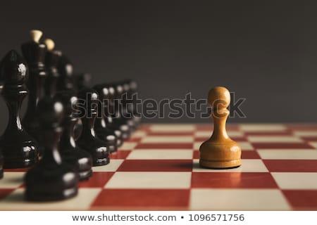 Noir échecs pion illustration fond art Photo stock © bluering