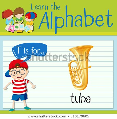 Flashcard letter T is for tuba Stock photo © bluering