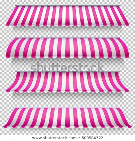 colored awnings set eps 10 stock photo © beholdereye