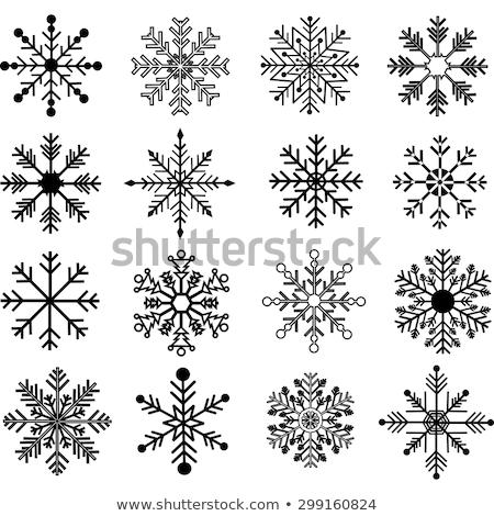 Clipart imagen resumen nieve fondo Foto stock © vectorworks51