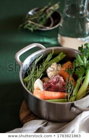 Húsleves hozzávaló tél tyúk hús diéta Stock fotó © M-studio