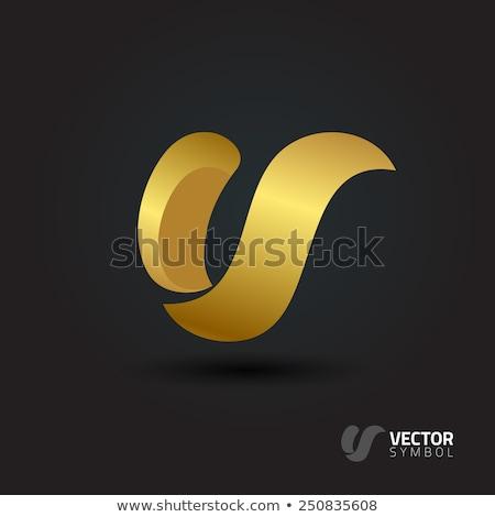 mektup · renk · logo · şablon · vektör - stok fotoğraf © cidepix