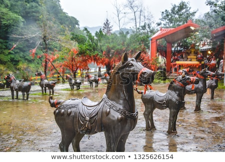 Chinese ancient jade carving art of Terra-cotta warrior Stock photo © bbbar