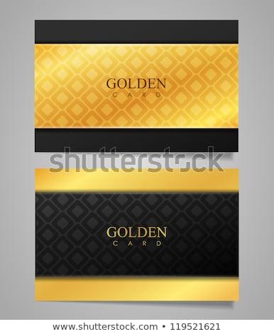 luxury golden ornament business card vector design illustration stock photo © sarts