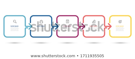 infographics steps banners template Stock photo © SArts