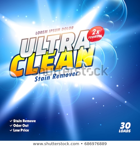 cleaning washing detergent formula packaging design template Stock photo © SArts