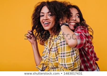小さな · かなり · スタイリッシュ · ヒップスター · 少女 · ポーズ - ストックフォト © iordani