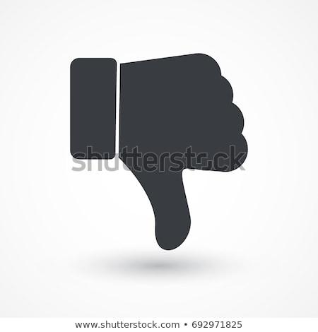 большой · палец · руки · вниз · вектора · икона · иллюстрация · стиль - Сток-фото © timurock