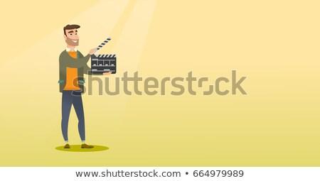 film · szimbólum · elegáns · elemek · vektor · film - stock fotó © rastudio