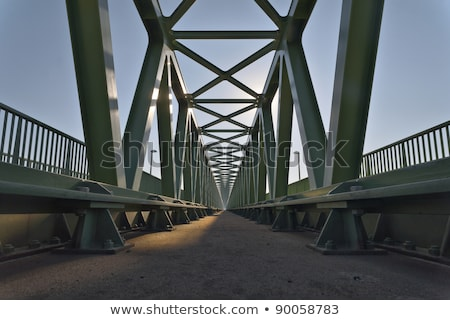 Metal bridge deck background Stock photo © njnightsky