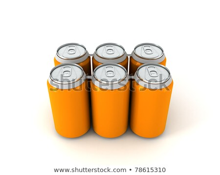 aluminum cans in six colors stock photo © bluering