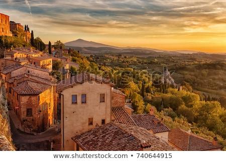 montepulciano panorama at sunset stock photo © benkrut