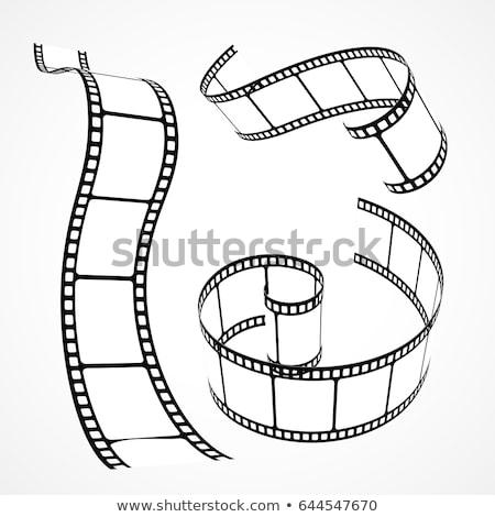filmszalag · tekercs · mozi · csepp · árnyék · fehér - stock fotó © sarts