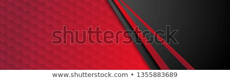 contrast red black geometric hexagons background stock photo © saicle