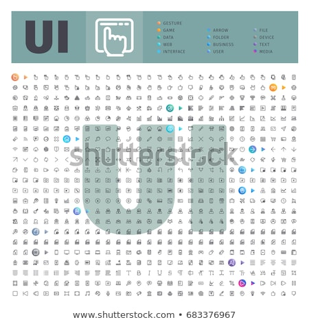 User Interface Thematic Collection of Line Icons Stock photo © Voysla
