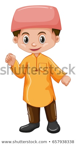 Erkek sarı gömlek örnek çocuk öğrenci Stok fotoğraf © bluering