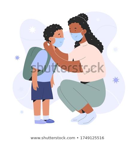 school · kinderen · ouders · illustratie · omhoog · een - stockfoto © krisdog