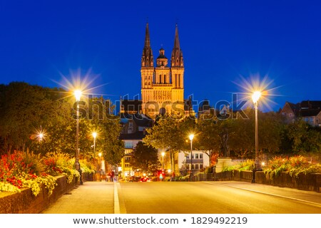 Angers Cathedral at sunset Stock photo © benkrut
