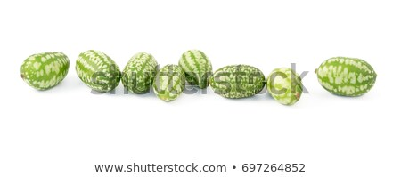 Foto stock: Row Of Eight Cucamelons