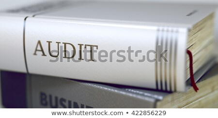Audit. Book Title on the Spine. 3D Illustration. Stock photo © tashatuvango