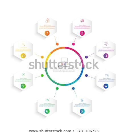 Vektor infografika jelentés sablon fogantyú háló Stock fotó © orson