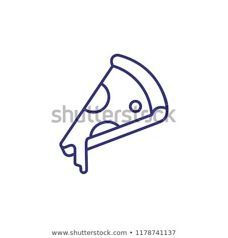 geheel · pizza · slice · lijn · icon · web · mobiele - stockfoto © rastudio