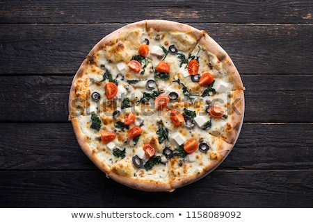 Pepperoni and Black Olives Pizza Stock photo © zhekos