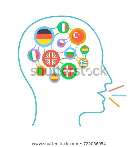 Zászlók országok ikon nyelv tanul űrlap Stock fotó © Olena