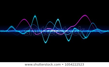 blue medical bright background with electrocardiogram Stock photo © SArts