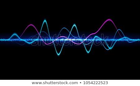 Blauw medische heldere elektrocardiogram abstract achtergrond Stockfoto © SArts