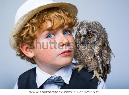 Сток-фото: Wild Eagle And Boy With White Hair