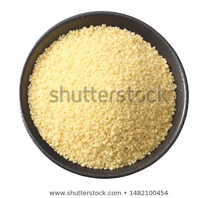 couscous · bambu · tigela · tabela · trigo - foto stock © digifoodstock