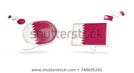 Dwa chat ikona banderą Katar placu Zdjęcia stock © MikhailMishchenko