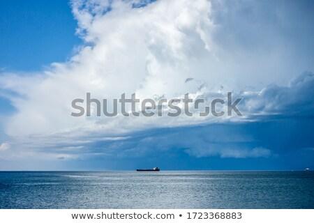 嵐の 雲 海 海景 雨の シーズン ストックフォト © stevanovicigor